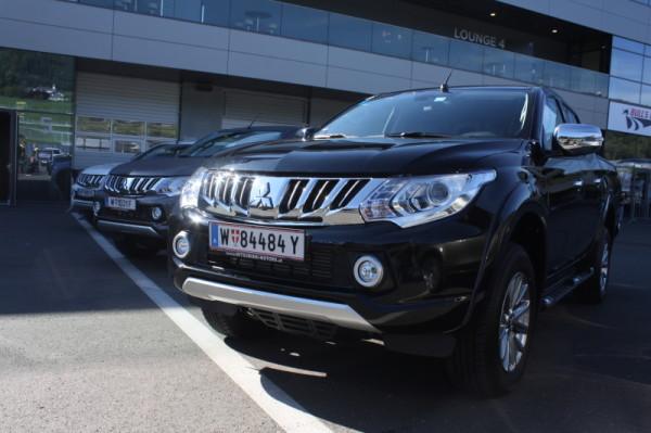 Bericht, Fotos und Videos vom Offroad Parcour Test mit dem Mitsubishi L200
