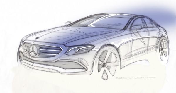 Mercedes E-Klasse DesigskizzeE-Class design sketch