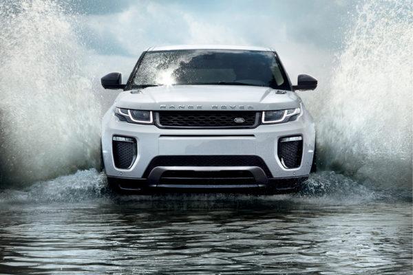 Range Rover Evoque Land Rover Wasserdurchfahrt
