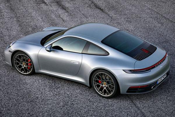Porsche 911 Heck Seiten Ansicht oben