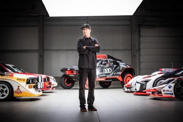 Audi und US-Star Ken Block driften elektrisch